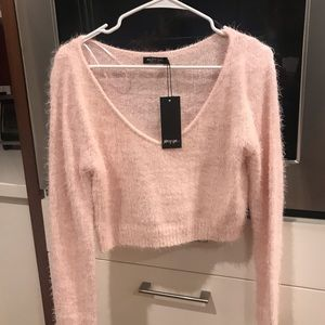 Cropped fuzzy sweater from NastyGal, never worn